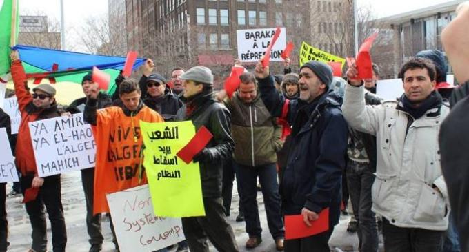 Les Algériens de Montréal bravent de nouveau le froid pour s'opposer au 4e mandat