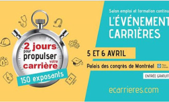 Le plus grand salon de l' Emploi de Montréal se tiendra le 05 et 06 Avril 17.