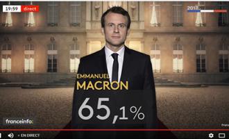 Emmanuel Macron nouveau président de la France .