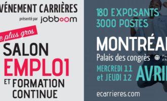Le Salon de l'Emploi et Formation continue ouvrira ses portes  à Montréal le 11 et 12 Avril 2018