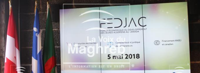 Le 1er Forum économique du développement des jeunes Algériens au Canada.